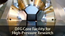 DFG Core Facility for High Pressure Research